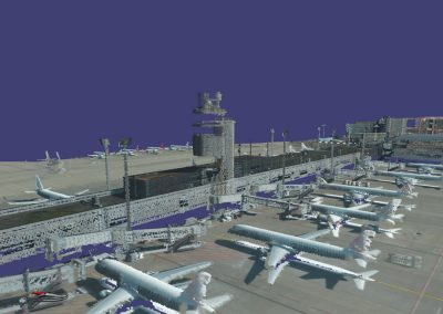 Hi-Resolution 3D airborne laserscan of infrastructure parts of the International Airport of Zurich
