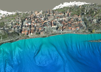 Bodensee: Colorization of the point cloud with orthophotos