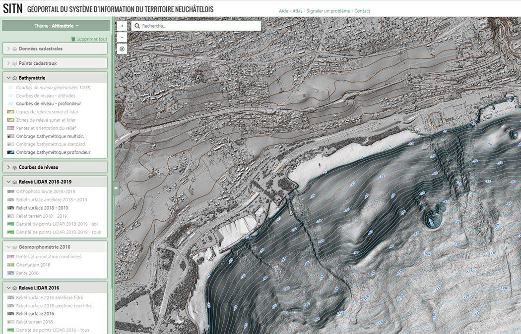 Bathymetry of Lac Neuchâtel: Topo-bathymetric LiDAR and sonar data published online